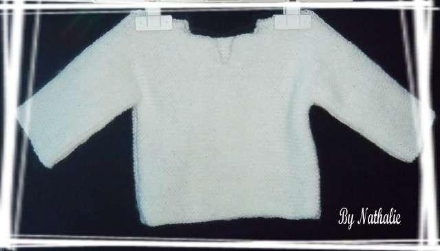Petit pull en laine blanc