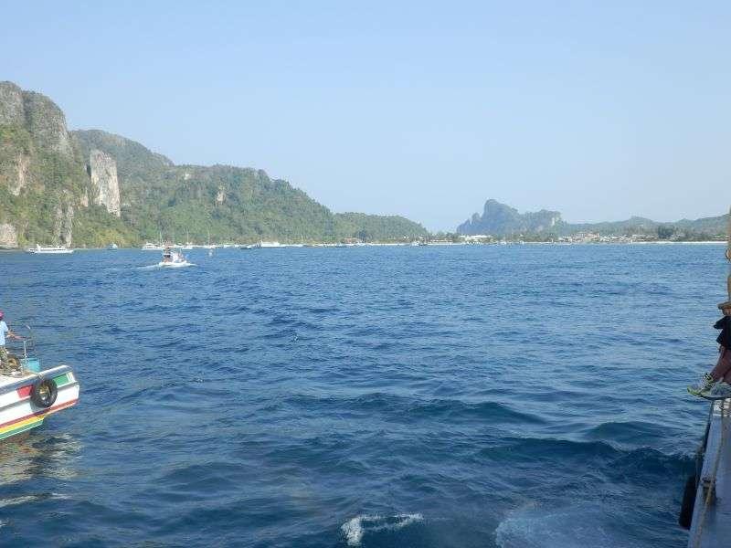 Blick zurück auf Kho Phi Phi