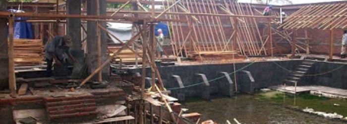 Revitalisasi Umbul Tirtomulyo di Dusun Umbul, Kemasan, Sawit, Boyolali, tahap pertama sudah berjalan 60%.