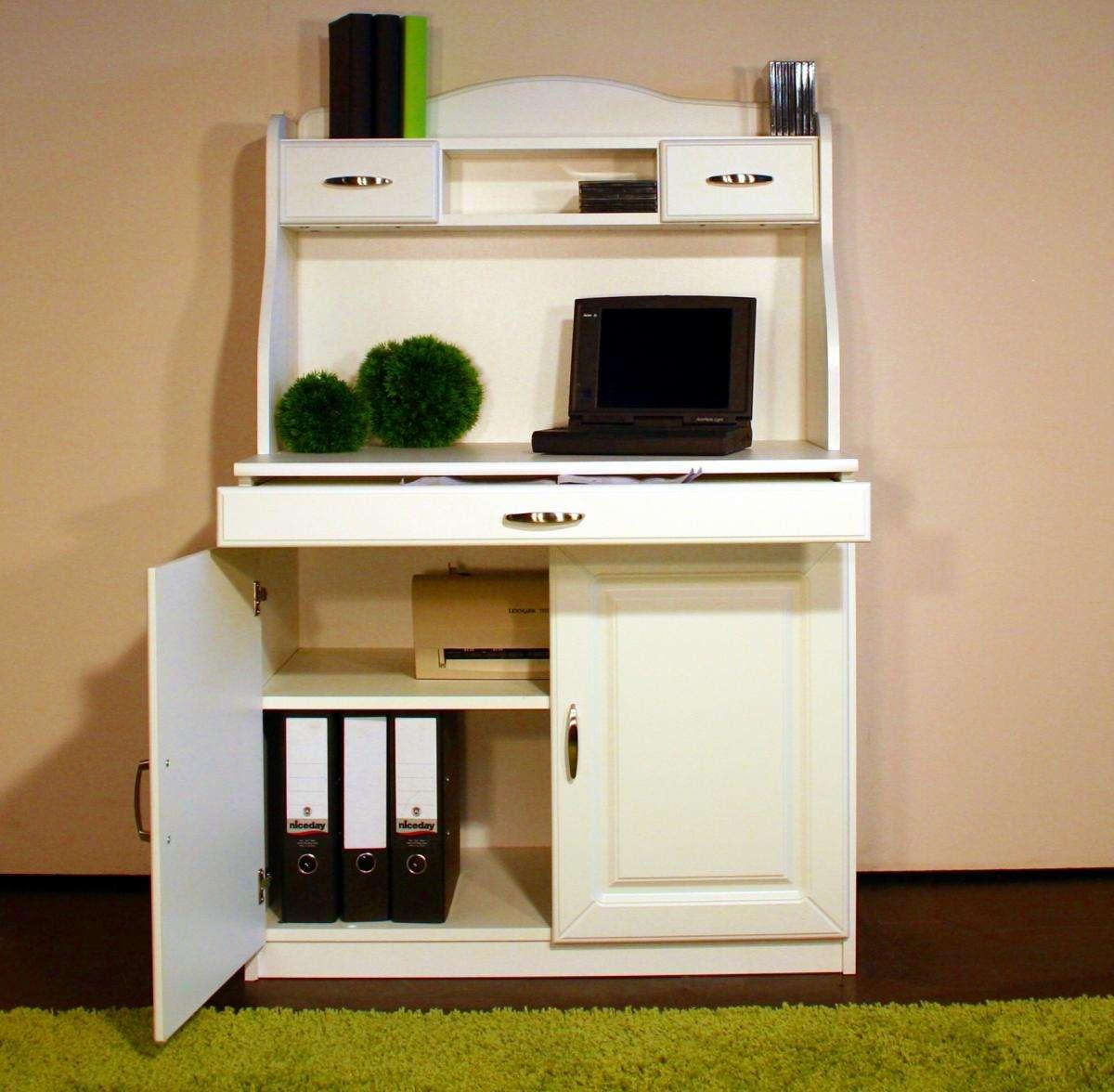 sekret r wei im landhausstil arbeitsplatz schreibtisch. Black Bedroom Furniture Sets. Home Design Ideas