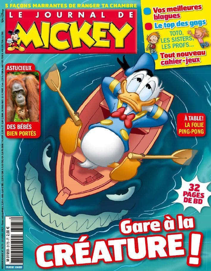 Le Journal de Mickey N°3173 du 10 au 16 Avril 2013