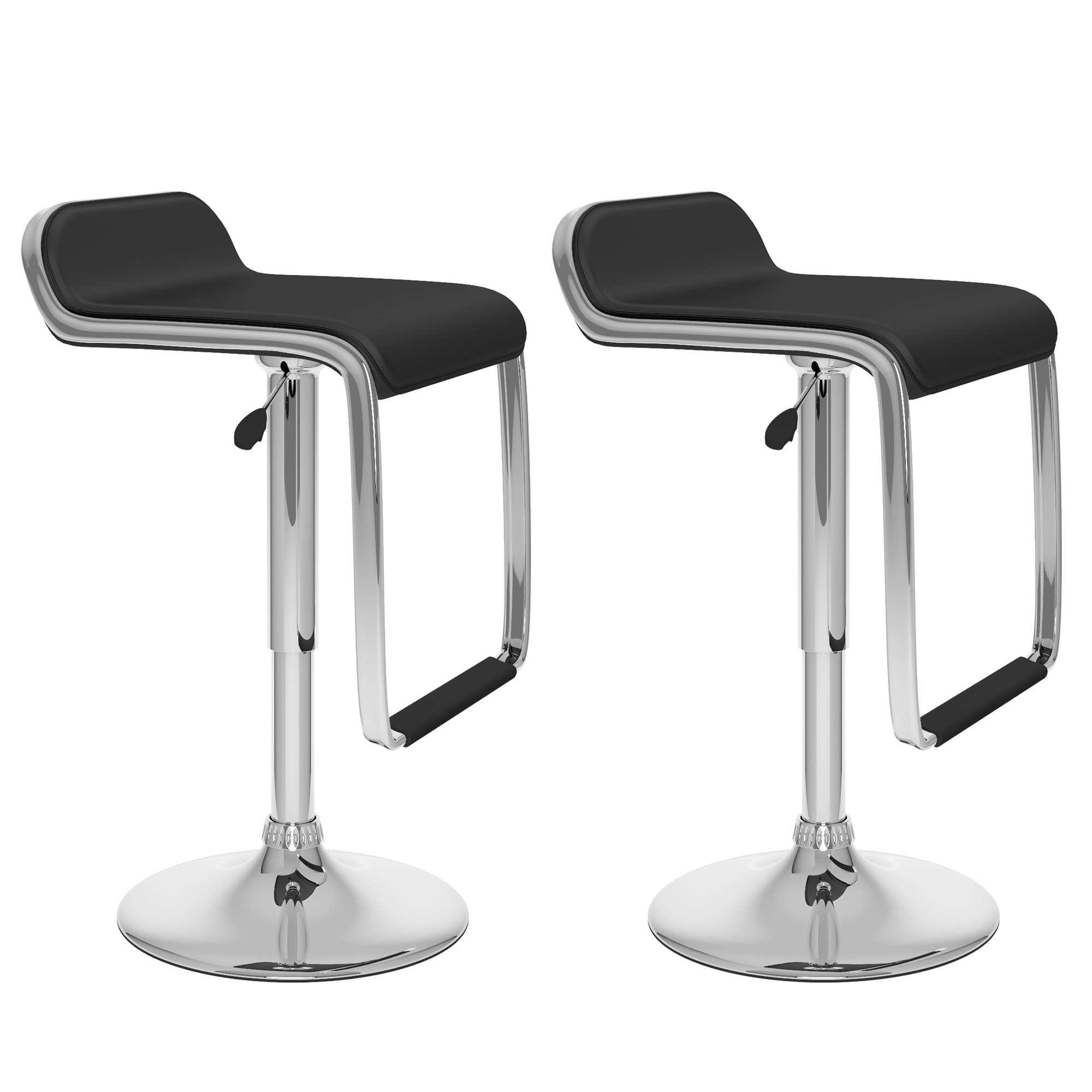 Set 2 sillas banco para cocina barra ajustable cromado fn4 demarkazone - Sillas de barra de bar ...