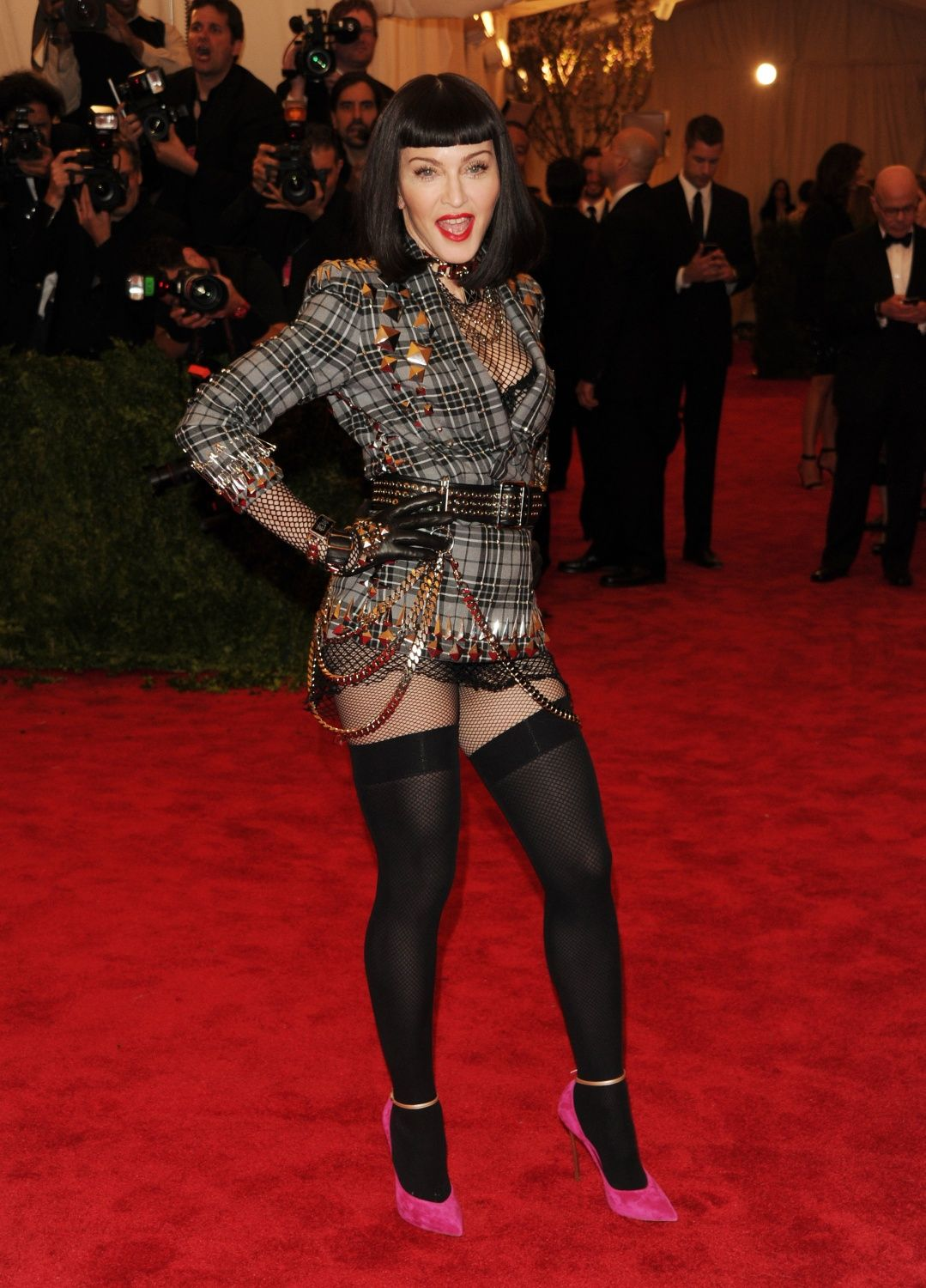 Madonna At The Met Gala Red Carpet Amazing Punk Look